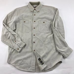 The Territory Ahead Gray Button Down Shirt Large
